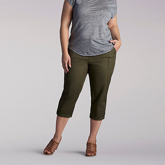 Relaxed Fit Carsen Knitwaist Capri - Plus