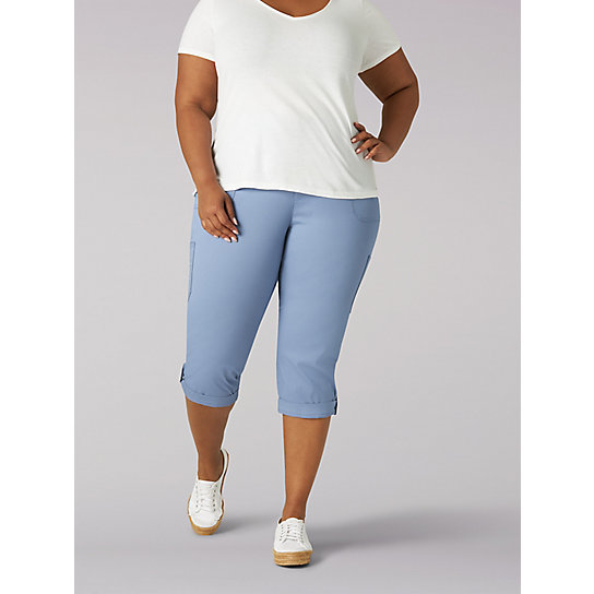 Women's Flex-To-Go Relaxed Fit Cargo Capri - Plus