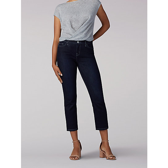 Flex Motion Regular Fit Capri - Petite