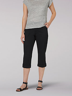 Women's Flex-To-Go Relaxed Fit Cargo Capri (Petite)