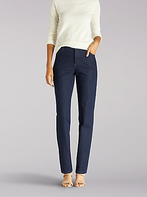 Women's Instantly Slims Relaxed Fit Straight Leg Jean Classic Fit
