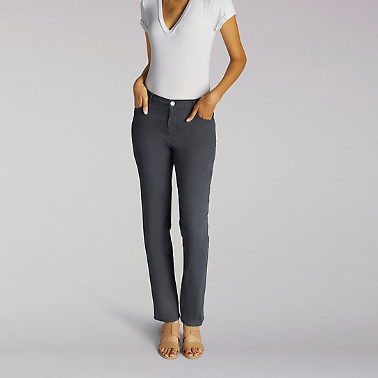 Instantly Slims Relaxed Fit Straight Leg Jean - Petite