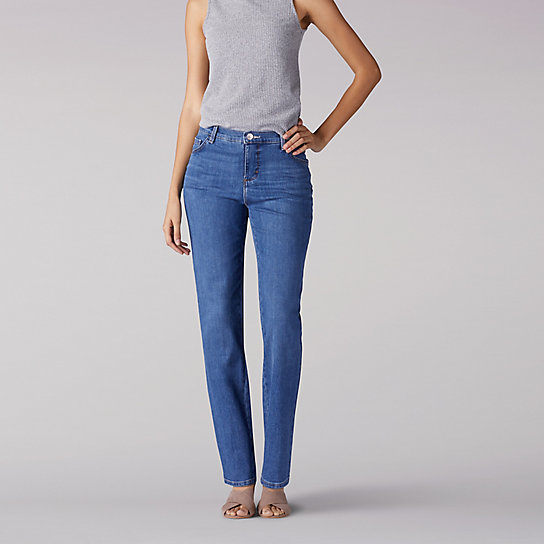 Instantly Slims Relaxed Fit Straight Leg Jean (Classic Fit) - Petite