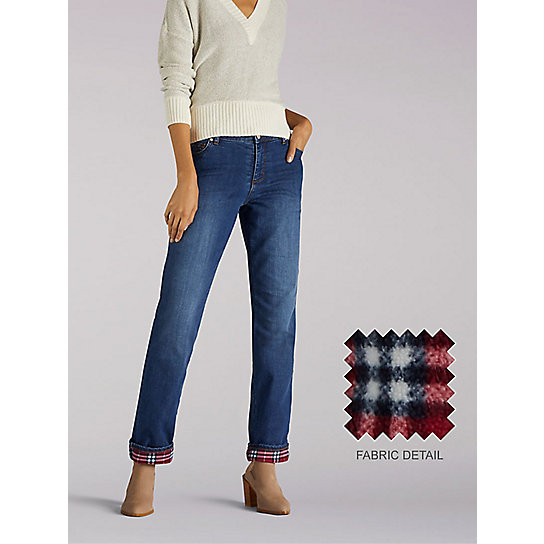 Relaxed Fit Fleece Lined Jean