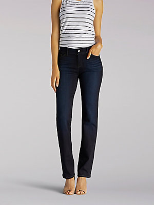 Women's Flex Motion Regular Fit Straight Leg Jean (Petite)