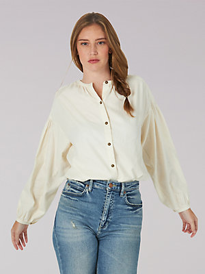 Women's Vintage Modern Lady Lee Button Down Shirt