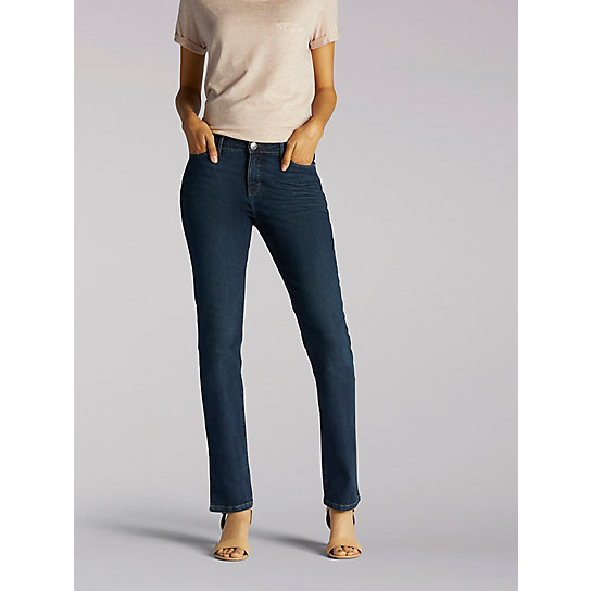 Slimming Fit Rebound Slim Straight Leg Jeans