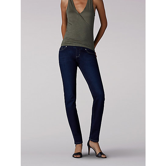 Slimming Fit Rebound Pull On Jeans - Petite