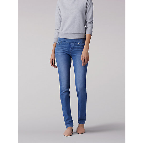 Sculpting Slim Fit Slim Leg Pull On Jean