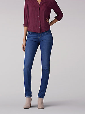 Women's Sculpting Slim Fit Slim Leg Pull On Jean (Petite)