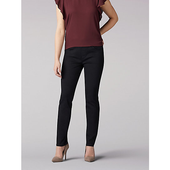 Sculpting Slim Fit Slim Leg Pull On Jean - Petite