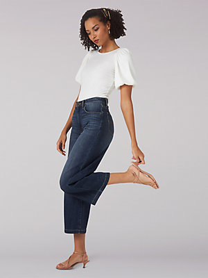 Women's Heritage High Rise Wide Leg Crop Jean
