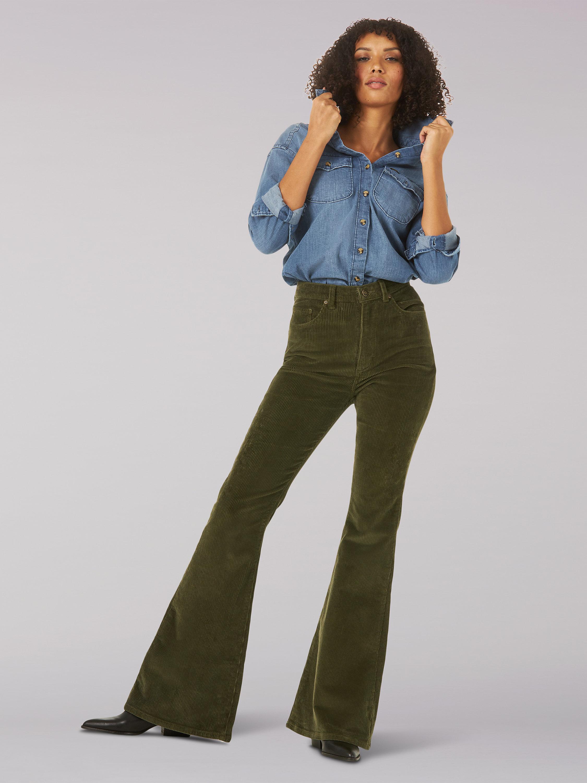 Vintage Modern Corduroy Flare Jean