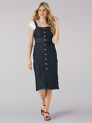 Women's Vintage Modern Dungaree Dress