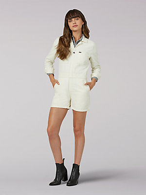 Women's Vintage Modern Short Union-All