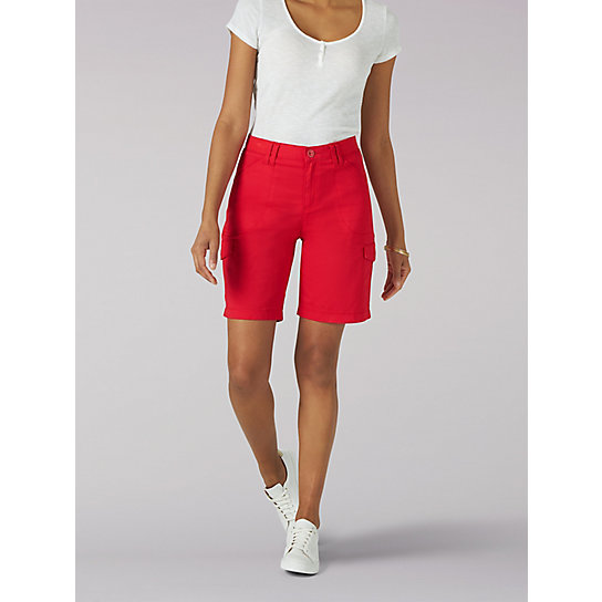 Women's Flex-to-Go Relaxed Fit Cargo Bermuda - Petite