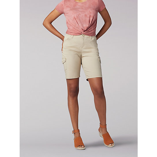 Flex-to-Go Relaxed Fit Cargo Bermuda - Petite