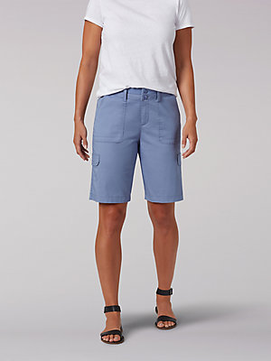 Women's Relaxed Fit Avey Knitwaist Cargo Bermuda