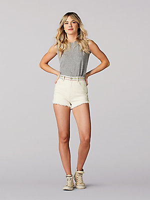Women's Vintage Modern Cut off Short w/ Rainbow