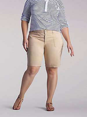 Women's Relaxed Fit Avey Knitwaist Cargo Bermuda (Plus)