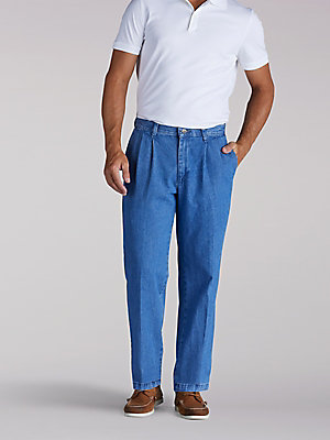 Men's Stain Resist Pleated Pant