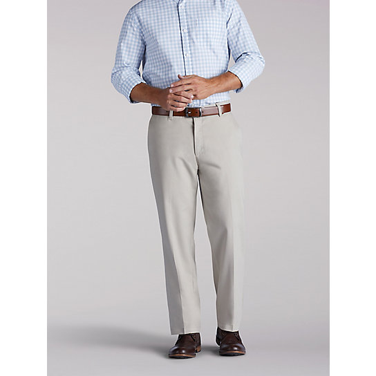 Stain Resist Flat Front Pants