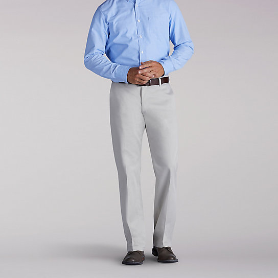 Custom Fit Flat Front Straight Fit Pants
