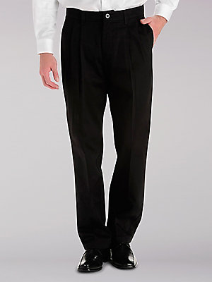 Men's Custom Fit Relaxed Fit Pleated Pant (Big & Tall)