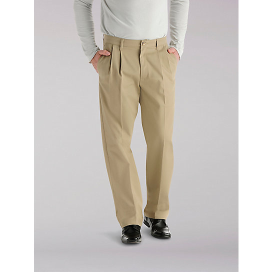 Custom Fit Relaxed Fit Pleated Pants - Big & Tall