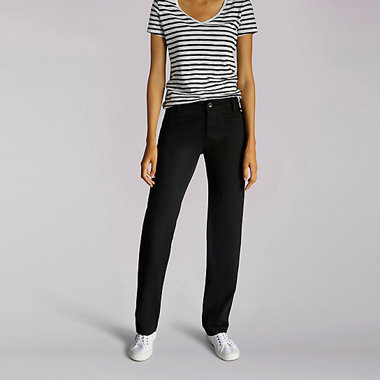 Relaxed Fit Plain Front Pant