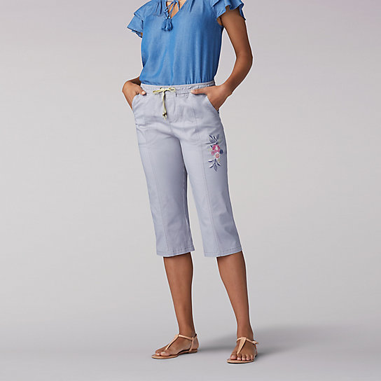 Flex-To-Go Relaxed Fit Pull On Utility Skimmer - Petite