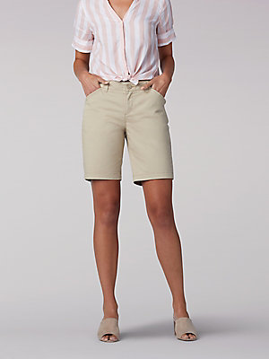 Women's Regular Fit Chino Bermuda (Petite)