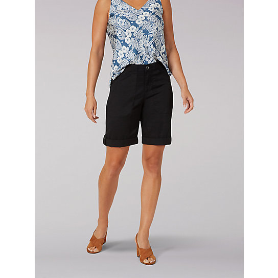Women's Flex-To-Go Relaxed Fit Utility Bermuda - Petite