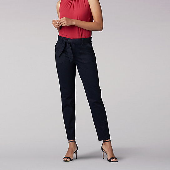 Regular Fit Straight Leg Utility Ankle Pant