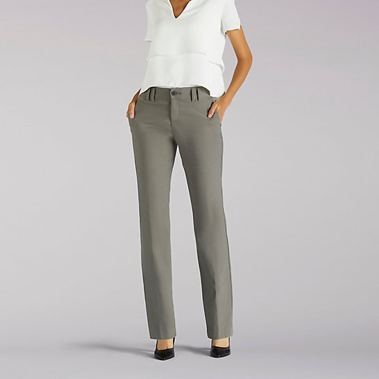 Flex Motion Regular Fit Straight Leg Career Pant