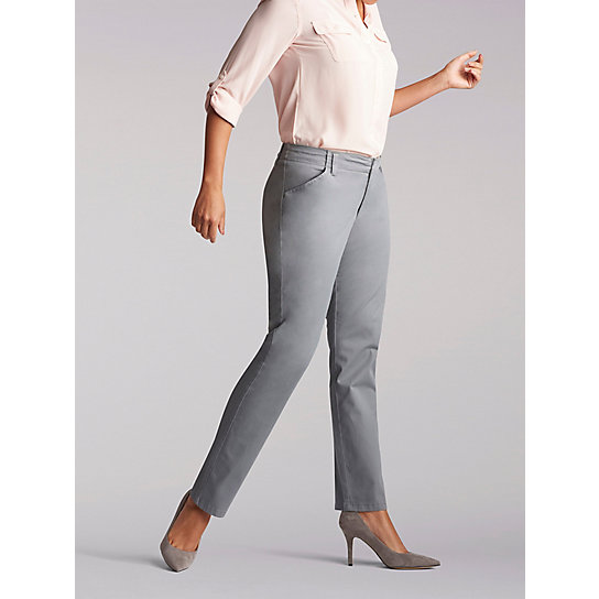 Women's Regular Fit Straight Leg Chino Pant