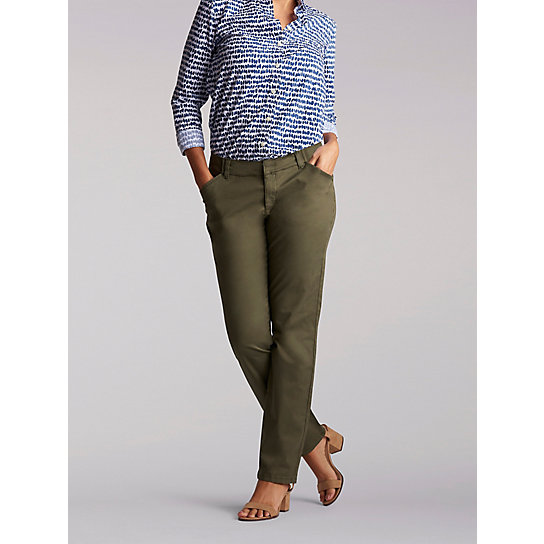 Regular Fit Straight Leg Chino Pant