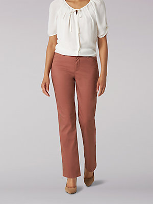 Women's Wrinkle Free Relaxed Fit Straight Leg Pant