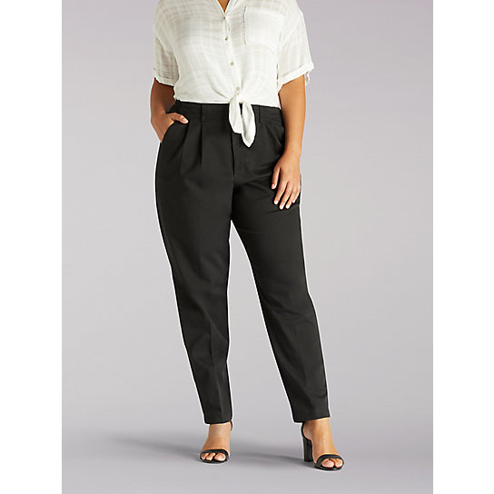 Side Elastic Pants - Plus