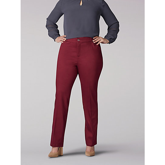 Flex Motion Regular Fit Straight Leg Pant - Plus
