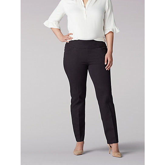 Women's Sculpting Slim Fit Slim Leg Pull On Pant - Plus