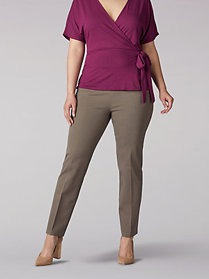 Women's Sculpting Slim Fit Slim Leg Pull On Pant (Plus)