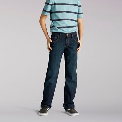 ee3546b6 Premium Select Straight Fit Boys Jeans - 8-18   Lee