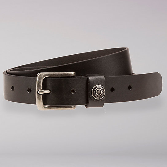 Lee Logo Rivet Leather Belt - Women