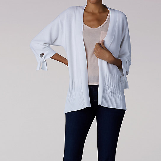 Tie Sleeve Detail Cardigan