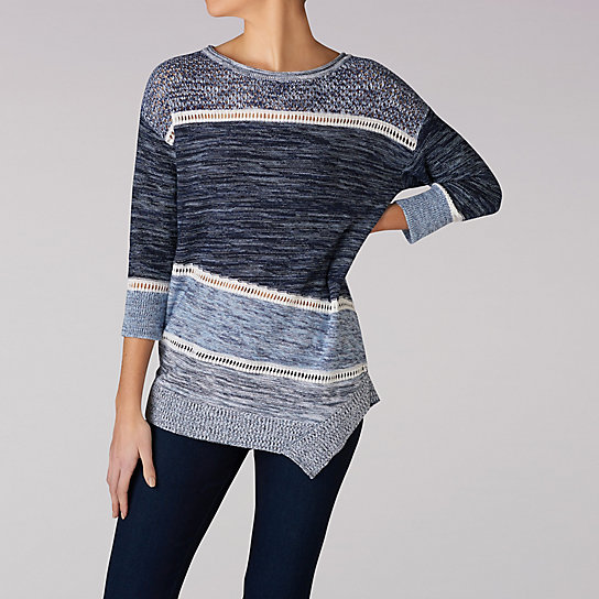 Assymetrical Pull Over Yarn Sweater