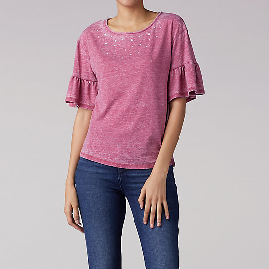 Short Sleeve Pearl Top