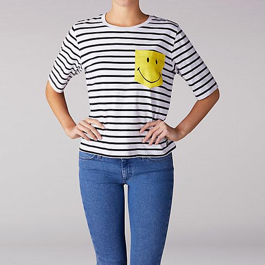 5e6bb93cec Lee x Smiley Striped Pocket Tee | Lee