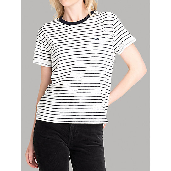 Lee European Collection -  Short Sleeve Stripe Lee Logo Tee