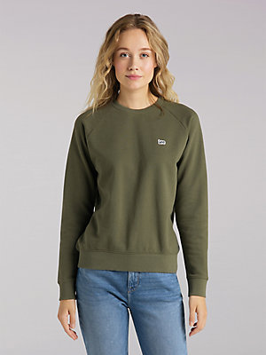 Women's Lee European Collection Solid Lee Crew Neck Sweatshirt
